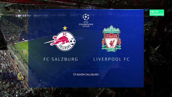 Champions League Resumen y Goles del Red Bull Salzburg - Liverpool