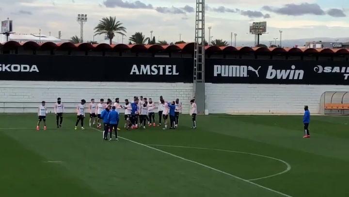 Rodrigo no entrena con el equipo