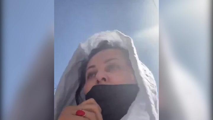 Afghan filmmaker films herself running away from Taliban in Kabul