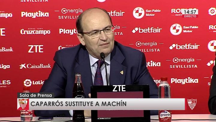 Presentación de Joaquín Caparrós como nuevo entrenador del Sevilla
