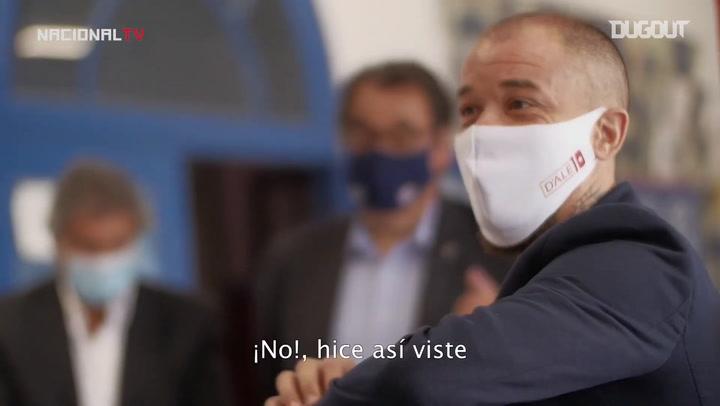 La presentación de Andrés D'Alessandro con Nacional