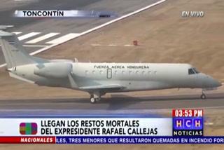 Llega cuerpo del ex presidente Rafael Callejas a Honduras