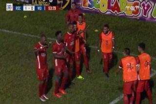 Jamal Charles anota el 1 - 0 de Real Sociedad ante Vida