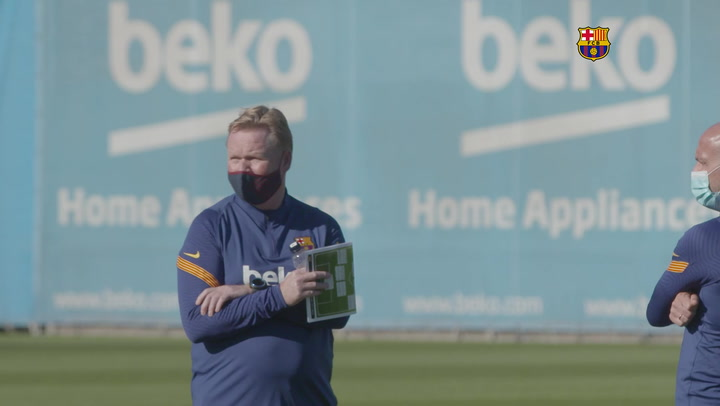 Koeman dirige su primer entrenamiento al mando del Barça