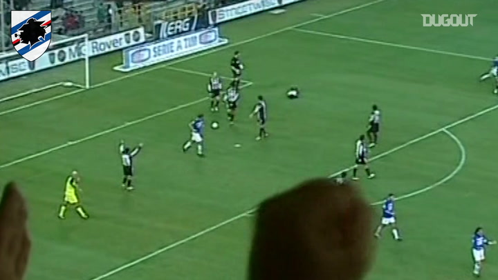 Flachi's right foot down Udinese