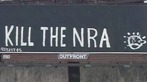'Kill the NRA' Billboard  Draws Ire from Commuters
