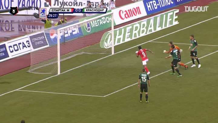 All Ari goals in Spartak Moscow vs FC Krasnodar fixtures