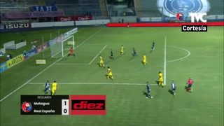 Motagua pegó primero a un Real España sin alma en la ida de las semifinales con gol de Galvaliz
