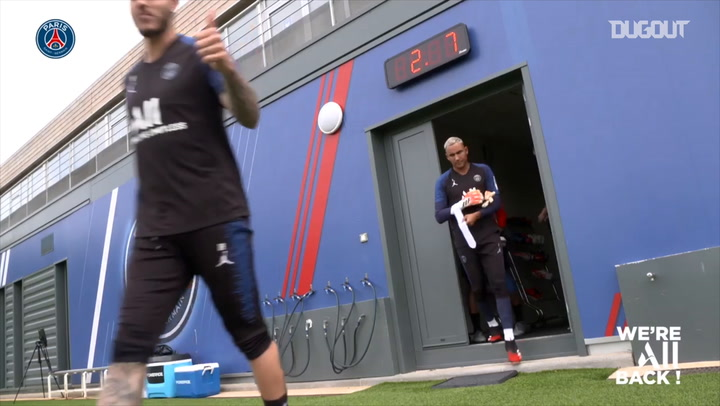 Paris Saint-Germain's first full training session