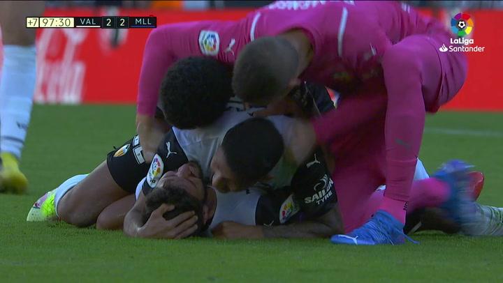 Gol de Gayá (2-2) en el Valencia 2-2 Mallorca