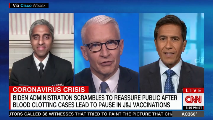 Surgeon General: We Don't Know if Clots Are 'Related to the Vaccine'