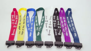 "¾"" Nylon Lanyard with Plastic Clamshell"