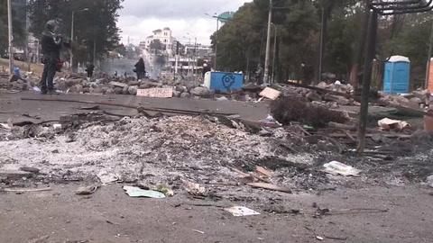 Quito amanece devastada por la huella de las protestas por los ajustes económicos