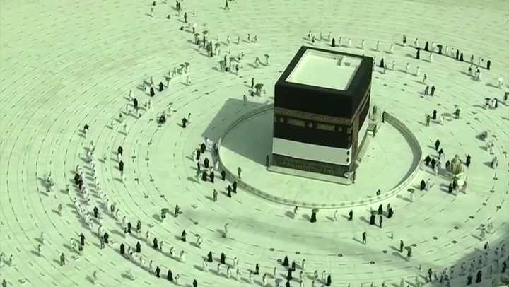 Saudi pilgrims perform socially distanced Tawaf in Mecca
