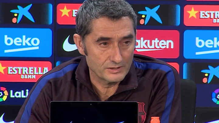 Ernesto Valverde habla antes del partido ante el Atlético en el Wanda