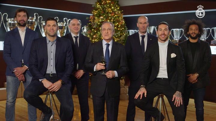 Florentino y el Real Madrid desean unas felices fiestas