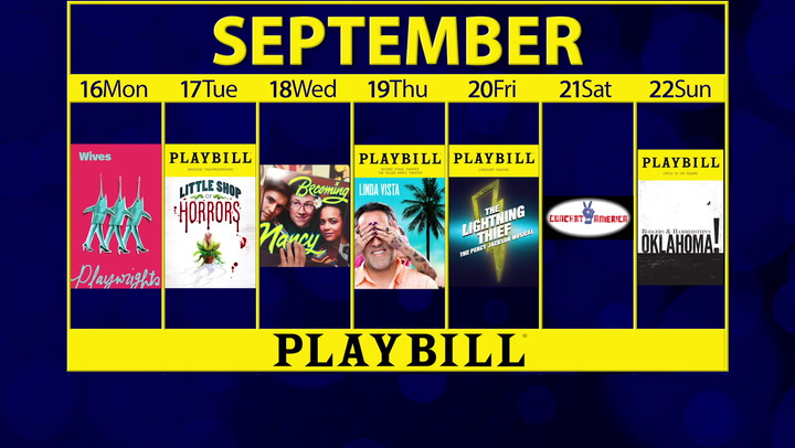 Playbill Calendar: Your Guide to Broadway, Off-Broadway and More September 16-22