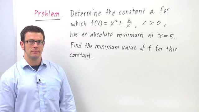 Optimization Using the First Derivative Test - Problem 2