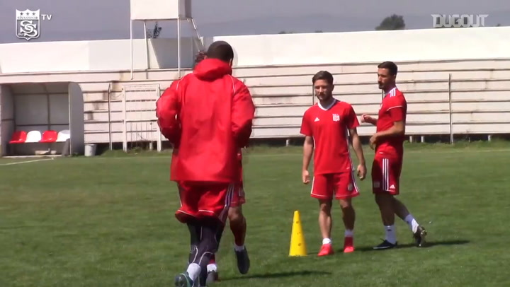 Sivasspor players continue their Pre-Season preperations in Bolu
