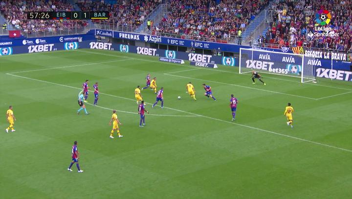 Gol de Messi (0-2) en el Eibar 0-3 Barcelona