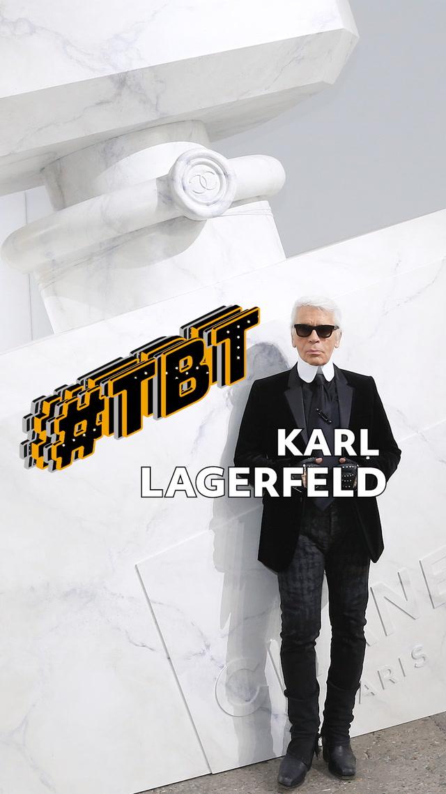 #tbt Moda  - Karl Lagerfeld