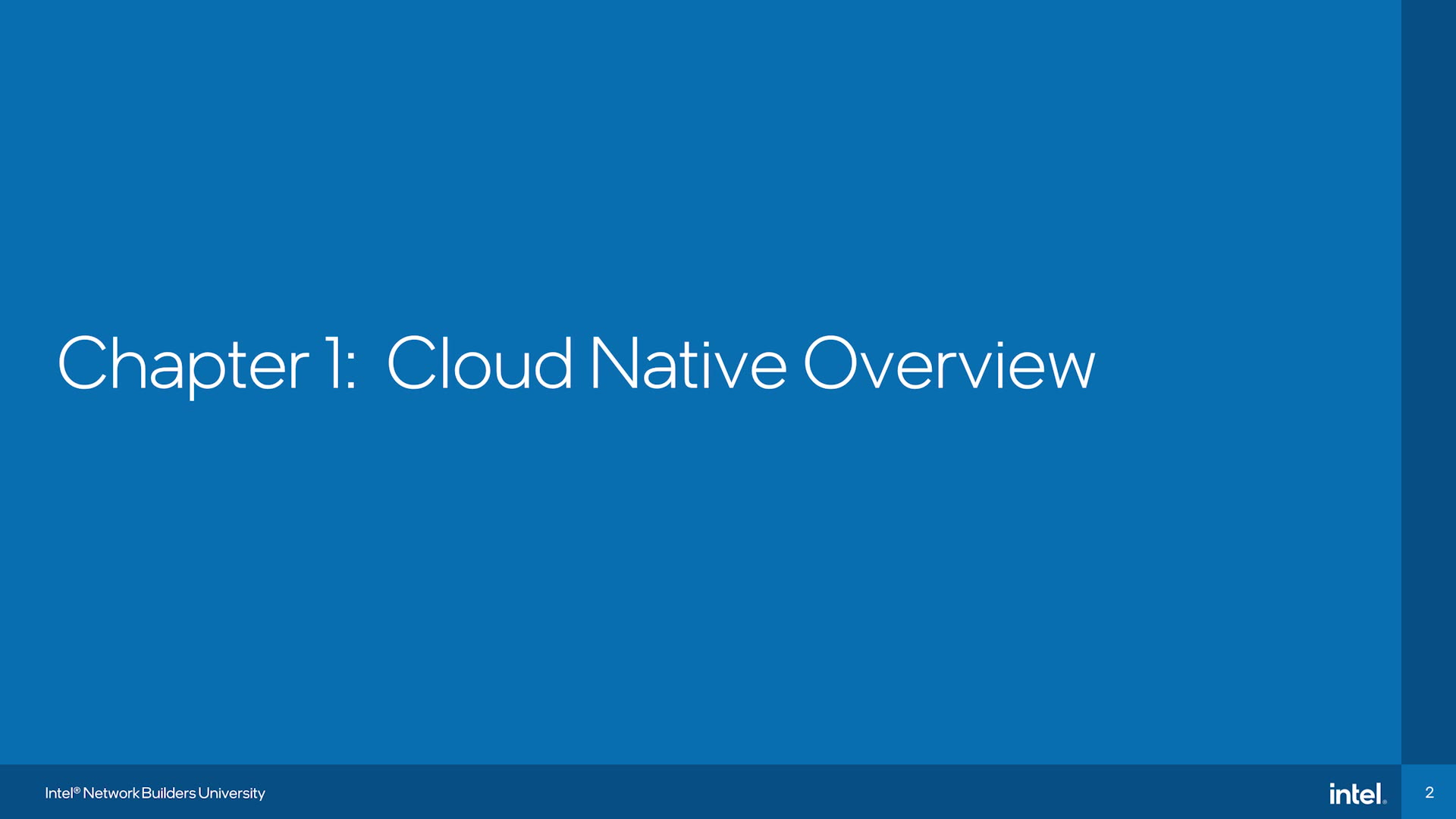 Chapter 1: Cloud Native Overview