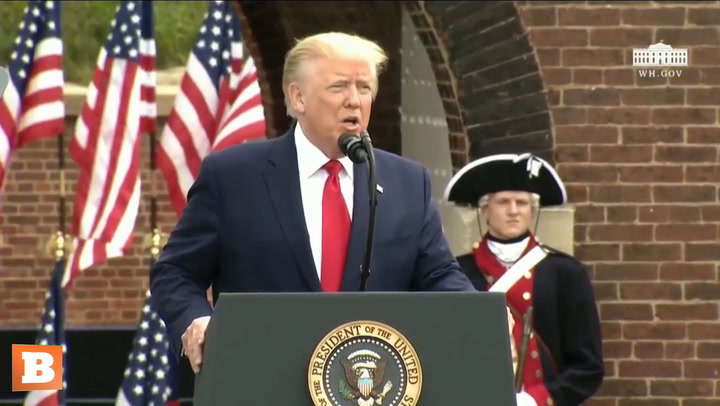 Trump Tells Story of Francis Scott Key and the Battle of Baltimore
