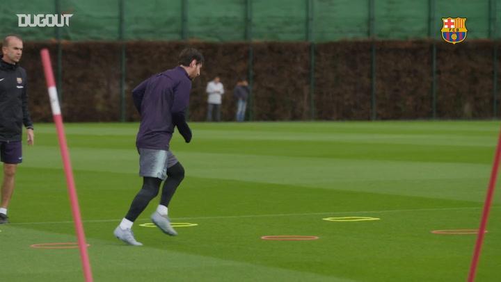 Leo Messi Returns To Barça Training