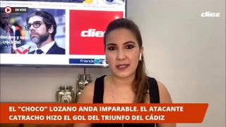 ¡UN CHOCO LOZANO BRILLANTE! Afición se vuelca felicitando a Lozano tras marcar otro gol con el Cádiz