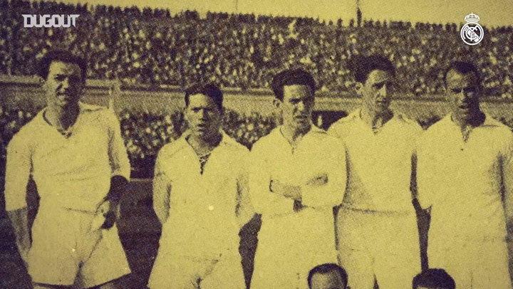The Real Madrid team that won the Spanish Cup in 1934