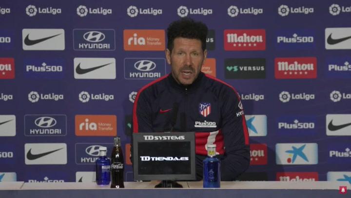 Diego Simeone explica la ausencia de Joao Félix como titular en los últimos partidos