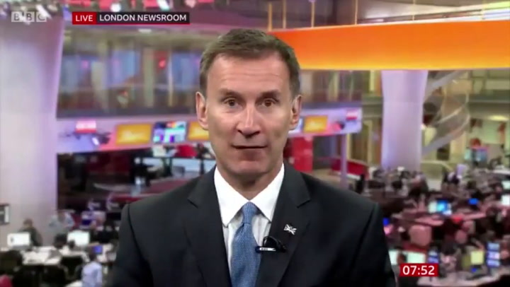 Jeremy Hunt refuses to say if Trump's comments were racist or not
