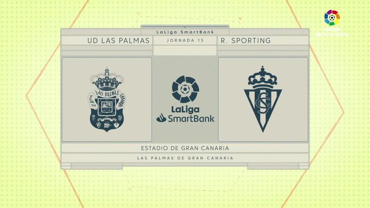 LaLiga SmartBank (J15): Resumen y goles del Las Palmas 3-2 Real Sporting