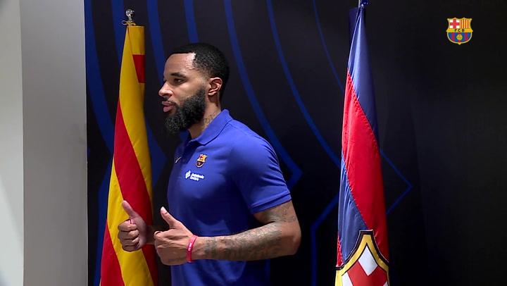 Malcom Delaney es presentado como nuevo jugador del Barça de baloncesto
