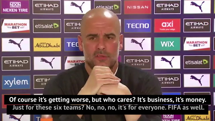 'Tell me why?!' - Guardiola urges clubs to clarify Super League plot