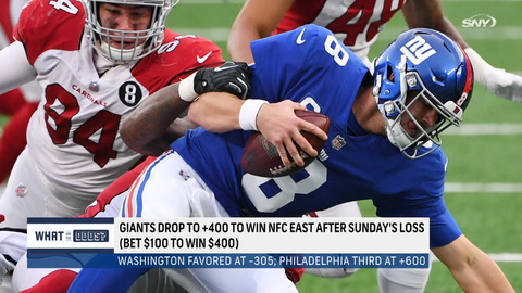 What are the latest odds for the Giants to win the NFC East?