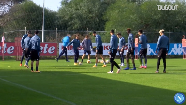Napoli's last training session ahead of Europa League clash against Rijeka