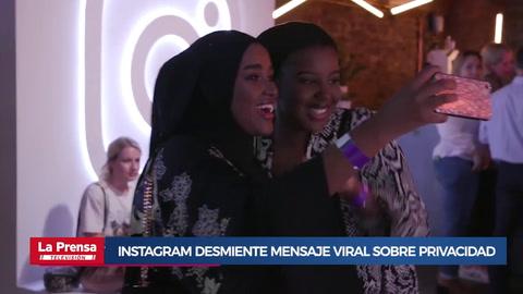 Instagram desmiente mensaje viral sobre privacidad