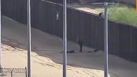 Dos chicas heridas al caer desde el muro fronterizo con EEUU