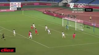 Kim Jin-Ya al minuto 64 marca el 5-0 a Honduras. La Bicolor luce irreconocible.