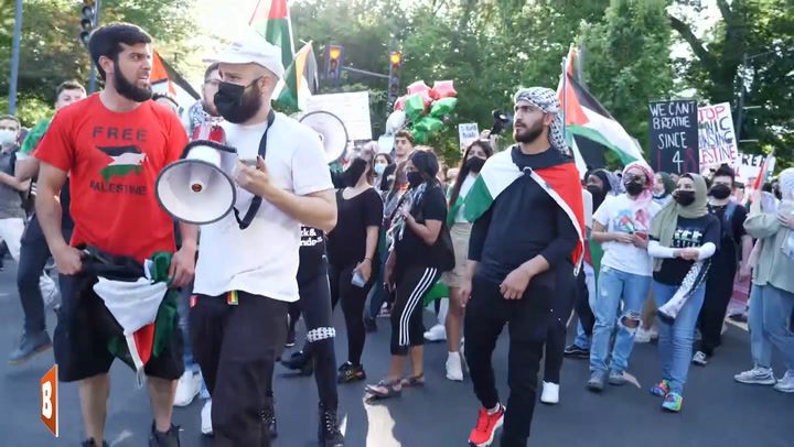 D.C. Pro-Palestinian Rally Attacks Counter-Protester, Sprays Unknown Substance on Face