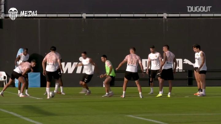 Primeiro treino do Valencia sob o comando de Voro