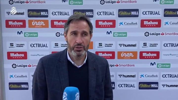 """Vicente Moreno: """"Tenemos que seguir en esta línea"""""""