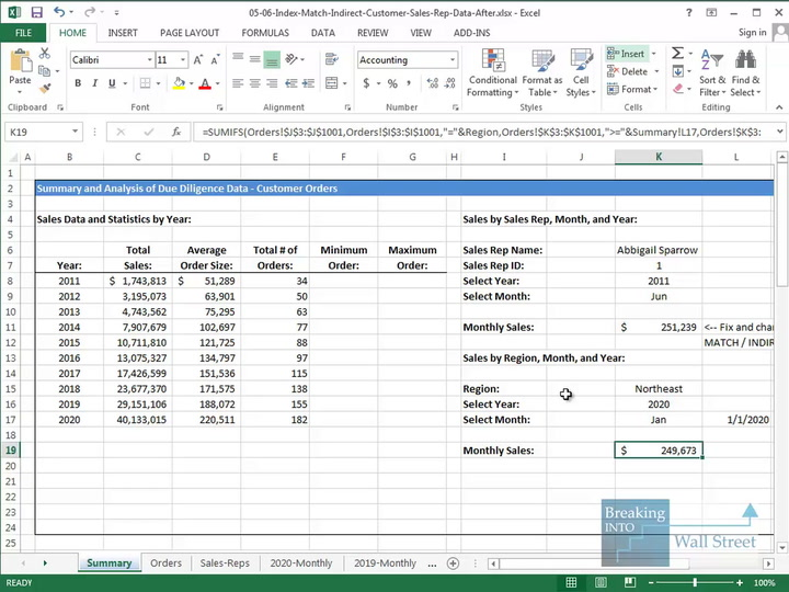 Advanced Formulas In Excel Index Match And Indirect