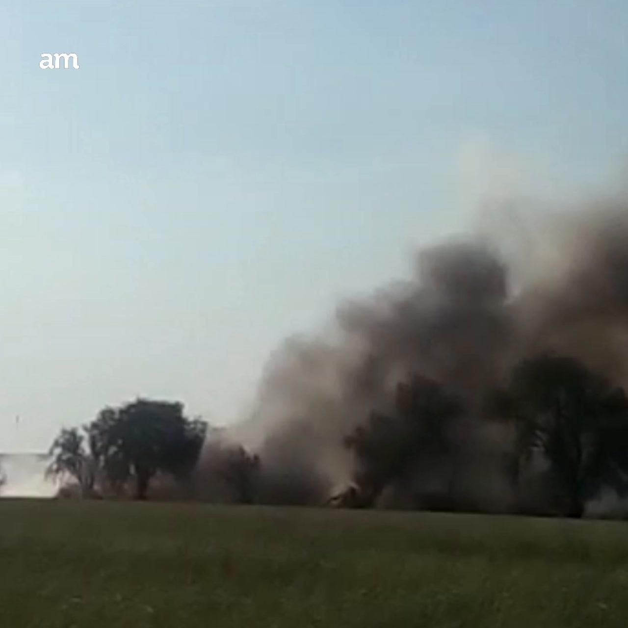Se Incendia basurero en Apaseo El Grande