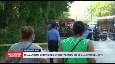 Hallan dos cadáveres encostalados en el bulevar del este de San Pedro Sula