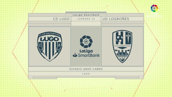 LaLiga SmartBank (J26): Resumen y goles del Lugo 1-1 UD Logroñés