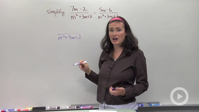 Adding and Subtracting Rational Expression - Problem 2