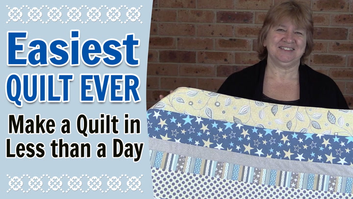 Quilting For Beginners The Easiest Quilt Ever Alanda Craft