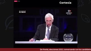 De frente, elecciones 2021, conversando con los candidatos presidenciales